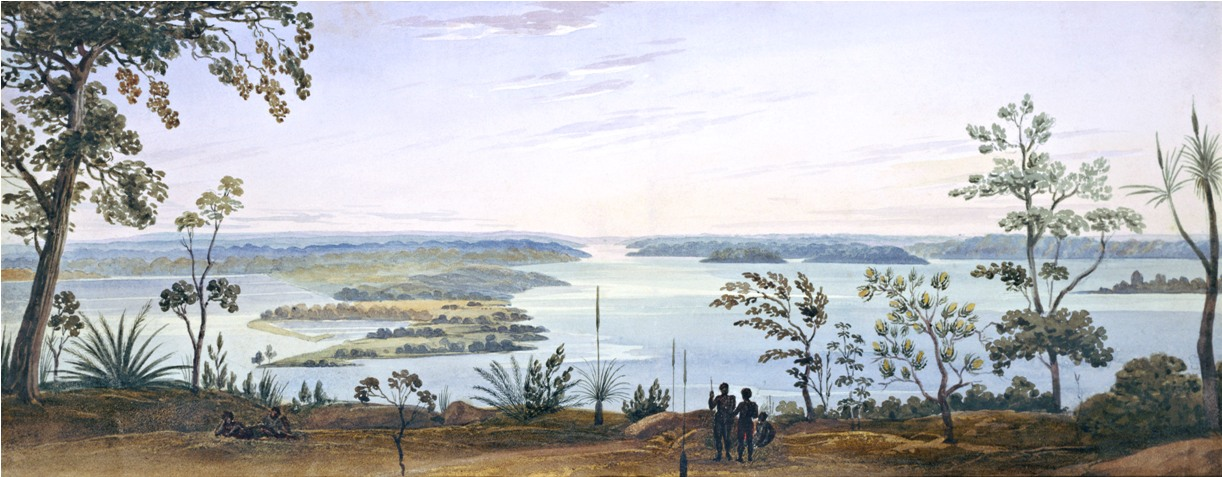 Frederick Garling View from Mount Eliza 1827