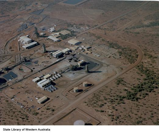 Aerial picture of Agnew mine