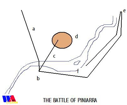 Map of the Battle of Pinjarra