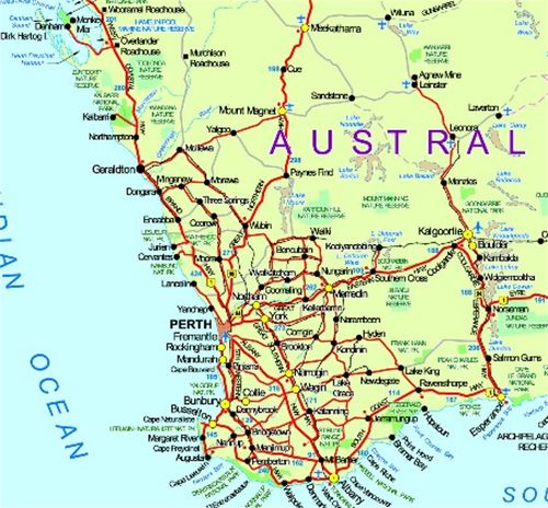 SELFDRIVE TOURS Western Australia Wwwwanowandthencom - Map of western australia with towns