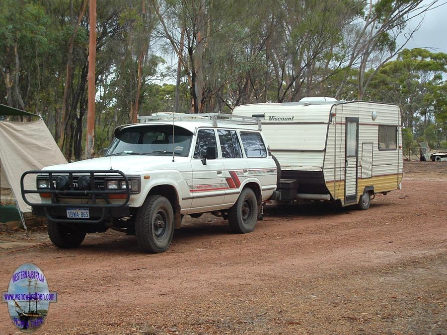 Toyota Landcruiser and caravan