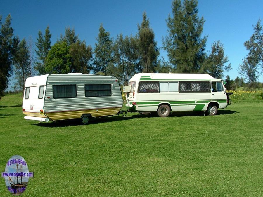 Toyota Coaster and caravan