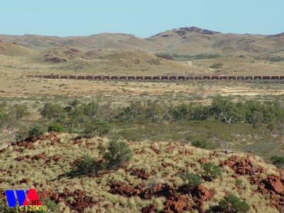 Robe River train line near Roebourne