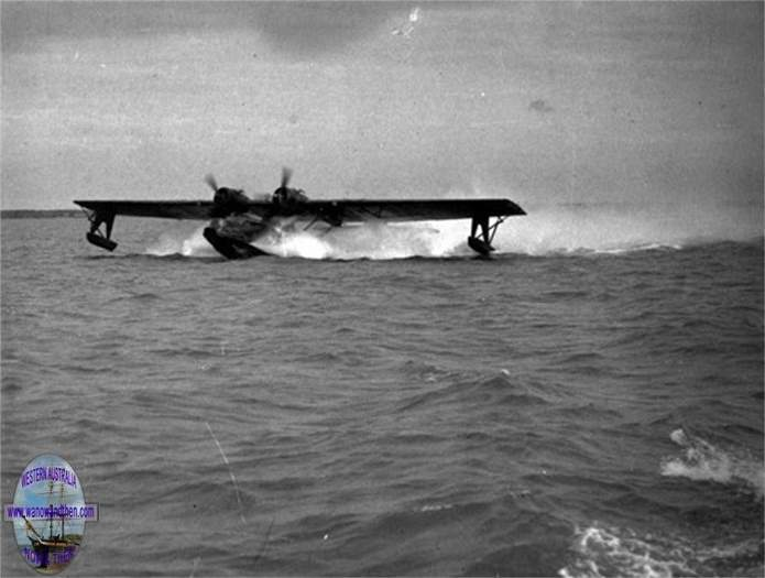 Catalina landing on the Swan River (S.L.W.A.)